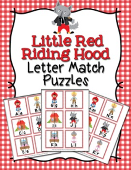 Little Red Riding Hood Letter Match Puzzles