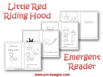 Little Red Riding Hood Literacy Activities for Pre-K and Kindergarten