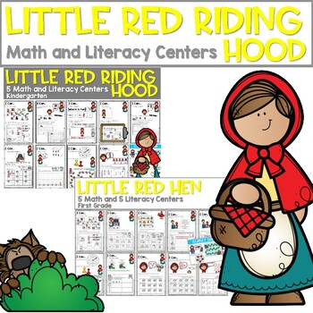 Little Red Riding Hood | Literacy Centers and Math Centers