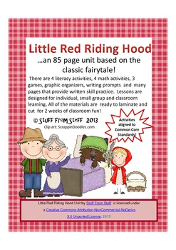 Little Red Riding Hood Literacy and Math Centers