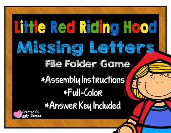 Little Red Riding Hood Missing Letters File Folder Game