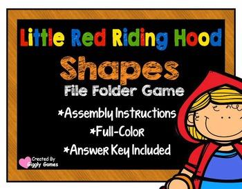 Little Red Riding Hood Shapes File Folder Game