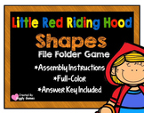 Little Red Riding Hood Shapes File Folder Game