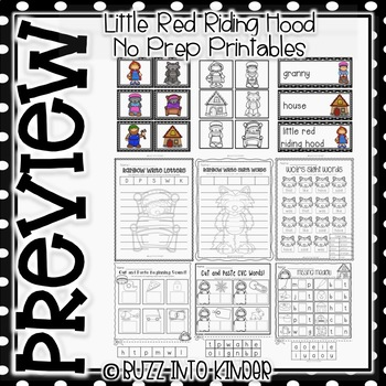 Little Red Riding Hood NO PREP Printables