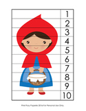 Little Red Riding Hood Number Counting Strip Puzzles - 5 Designs
