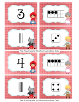Little Red Riding Hood Number Match