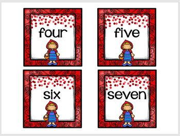 Little Red Riding Hood Number Match Up