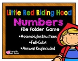 Little Red Riding Hood Numbers File Folder Game