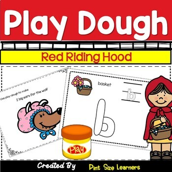 Little Red Riding Hood PK and Kindergarten Play Dough Math