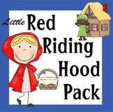 Little Red Riding Hood Pack for Preschool, Kindergarten, 1st Grade