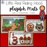 Little Red Riding Hood Playdough Mat Activities Numbers 1-