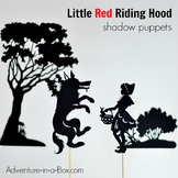 Little Red Riding Hood Printable Shadow Puppets