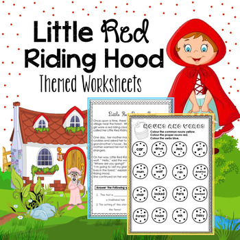 Little Red Riding Hood Reading Comprehension + Writing + Activity Sheets