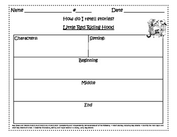 Little Red Riding Hood Reading Responses
