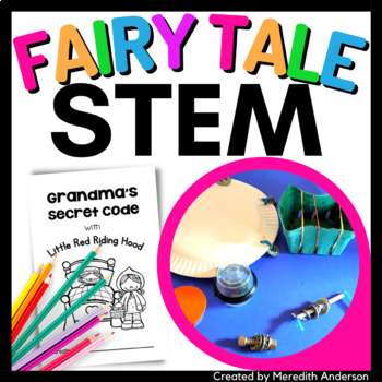 Little Red Riding Hood Fairy Tale STEM Activity - Grandma's Secret Code