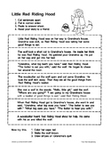 Little Red Riding Hood (Sequencing)
