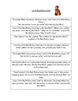 Little Red Riding Hood Sequencing Worksheets Teaching Resources