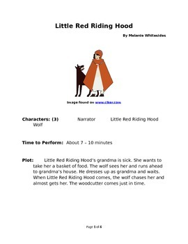 Little Red Riding Hood - Small Group Reader's Theater