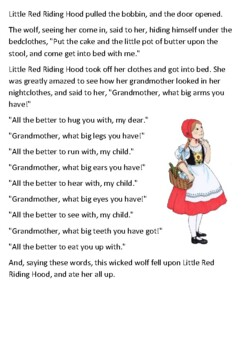 Little Red Riding Hood Story Handout