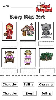 Little Red Riding Hood Story Map Worksheets Teaching Resources Tpt