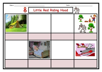 Little Red Riding Hood Storyboard