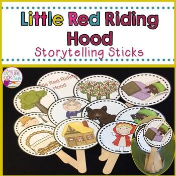 Little Red Riding Hood Stick Puppets