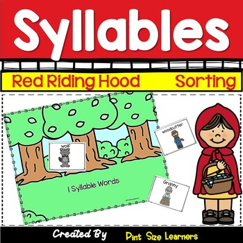 Little Red Riding Hood Syllable Activities for Kindergarten