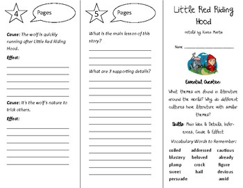 Little Red Riding Hood Trifold - Open Court 4th Grade Unit 6 Lesson 3