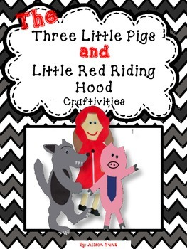 Little Red Riding Hood and The Three Little Pigs Craftivit