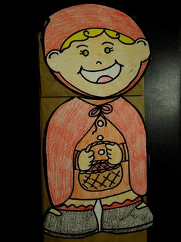 Little Red Riding Hood and Wolf pack paper bag puppets