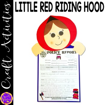 Little Red Riding Hood and the Big Bad Wolf craft activity