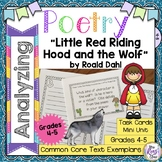 Little Red Riding Hood and the Wolf Roald Dahl Poetry Analysis Mini Unit
