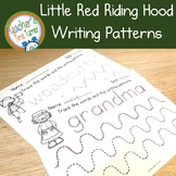 Little Red Riding Hood early writing patterns