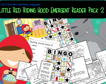 Little Red Riding Hood emergent readers- Language Pack 2