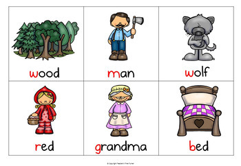 Little Red Riding Hood mix and match matching cards