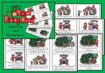 Little Red Riding Hood story sequencing flashcards
