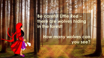 Subitizing game - Little Red Riding Hood