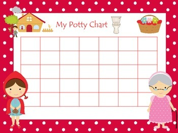 Little Red Riding Hood themed Daycare Hygiene Potty Chart and Certificate