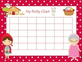Little Red Riding Hood themed Daycare Hygiene Potty Chart