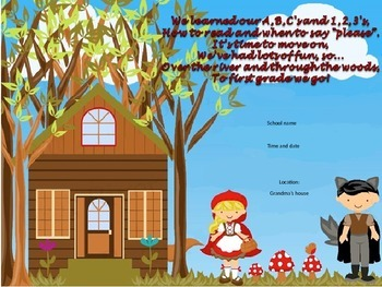 Little Red Riding Hood tickets, invite, bag (EDITABLE)