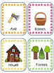 Little Red Riding Hood word cards for IKEA TOLSBY frames