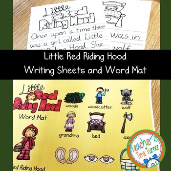 Little Red Riding Hood writing papers and bonus wordmat