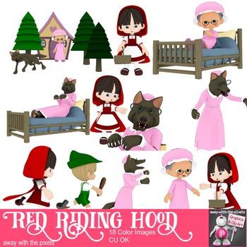 Little Red Ridinghood Story Clip Art - Fairytale Clipart Images