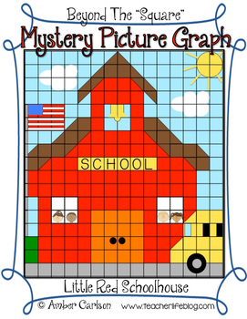 Little Red Schoolhouse {Beyond The Square-Mystery Picture Graph}