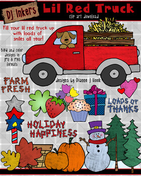Little Red Truck Clip Art Download