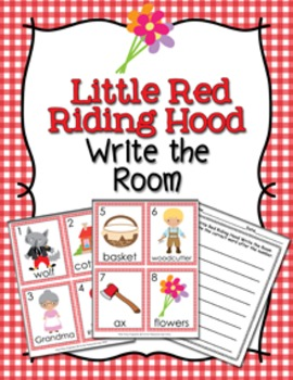 Little Red Writing Hood Write the Room
