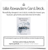 Little Reminders Mindfulness Card Deck