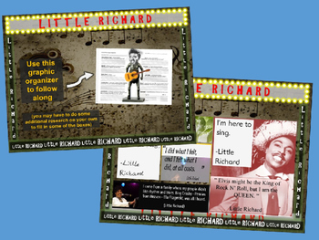 Little Richard: 25 slides with text, hyperlinks, primary sources, & handouts)