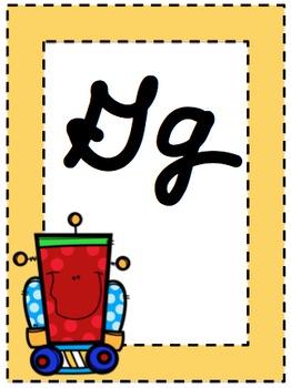 Little Robots Cursive Letters & Numbers Set