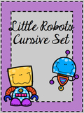 Little Robots Cursive Letters & Numbers Set
